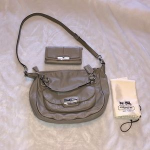 COACH KRISTIN LEATHER SATCHEL AND WALLET